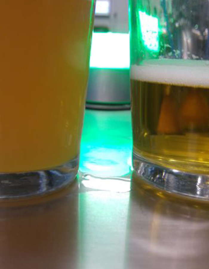 before and after beer filtration