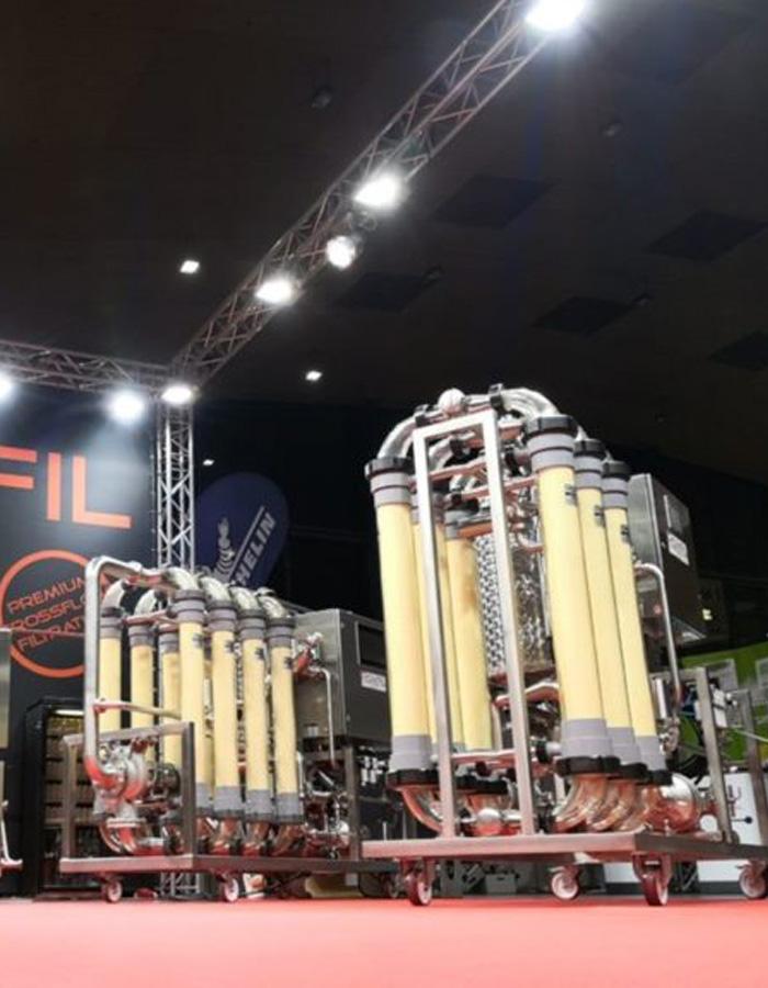romfil crossflow filtration at show