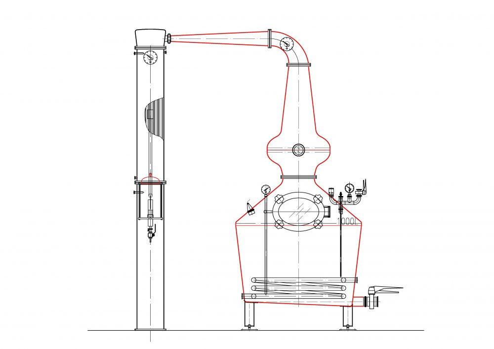 Whiskey Still Technical Diagram