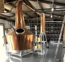 Whiskey Still in factory